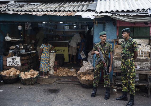 Des soldats sri-lankais à Colombo