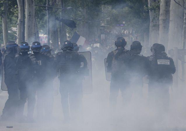 Les forces de l'ordre à Lyon lors de l'acte 26 des Gilets jaunes