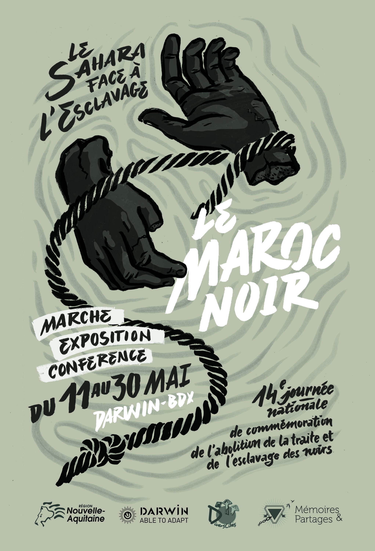 Affiche de la manifestation sur «le Sahara face à l'esclavage» pour le Maroc