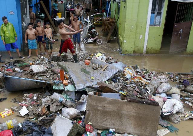 Les déchets aux Philippines