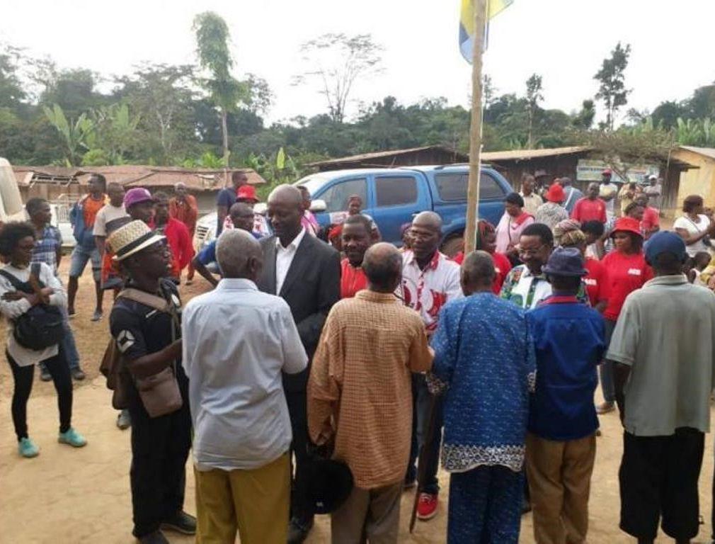 Ali Bongo à Libreville le 7 mai.