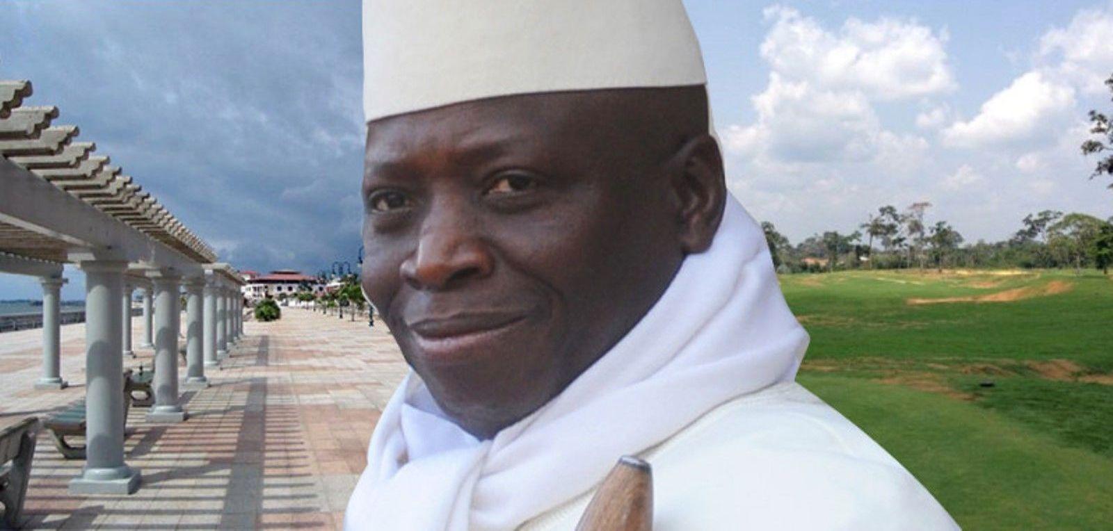 Yahya Jammeh au bord de la Wele à Mongomo