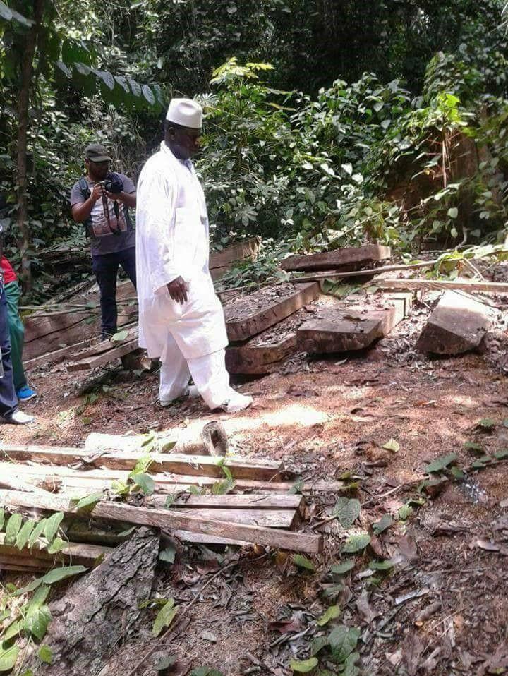 Yahya Jammeh en brousse