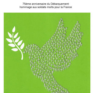 75e anniversaire du Débarquement: hommage aux soldats morts pour la France