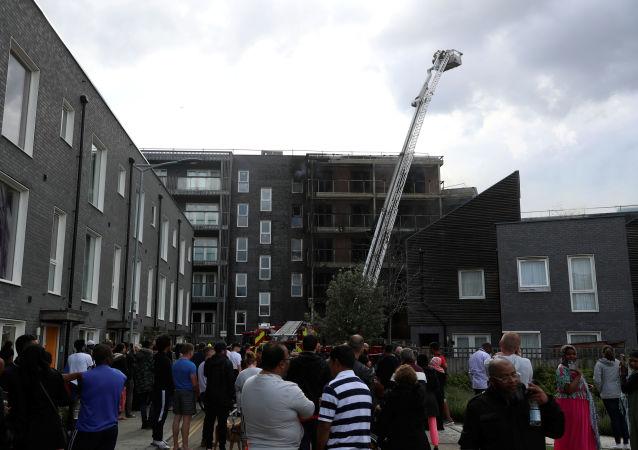 Incendie dans un immeuble dans l'est de Londres (9 juin 2019)