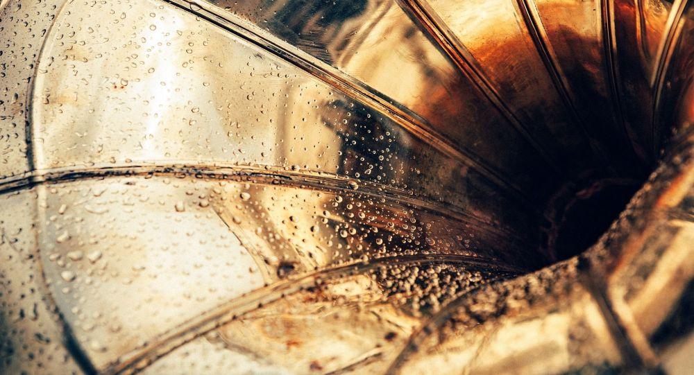 Des gouttes d'eau sur un instrument de musique (image d'illustration)