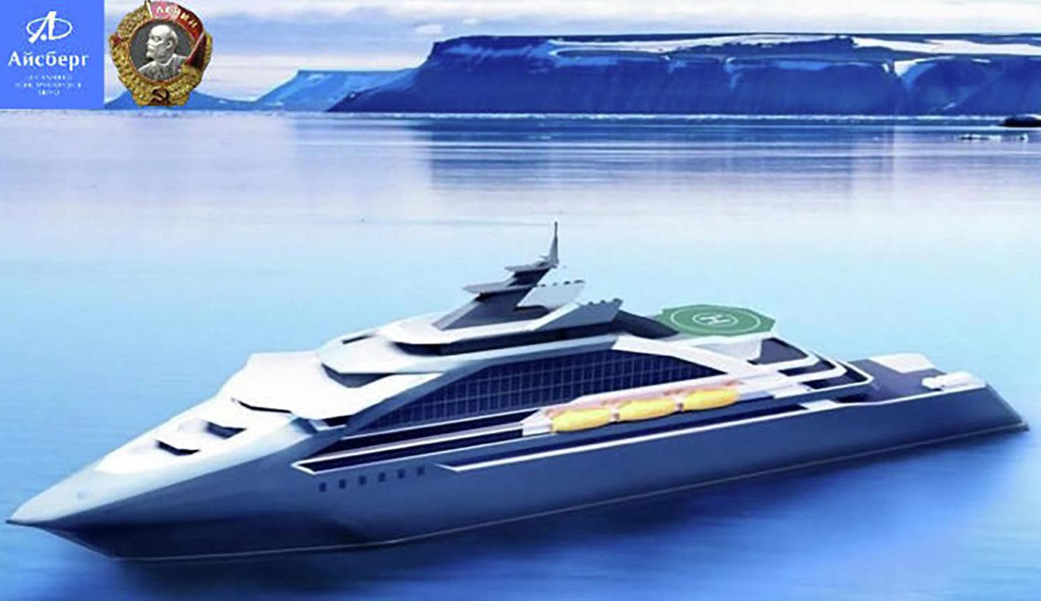 Projet d'un navire de croisière arctique conçu par le bureau d'études russe Aïsberg