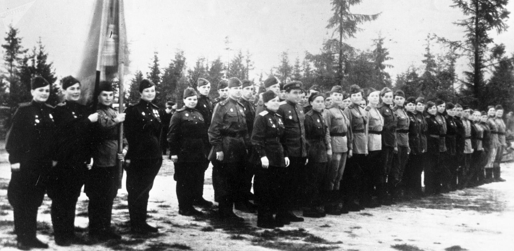 Des pilotes de l'époque de la Grande Guerre patriotique