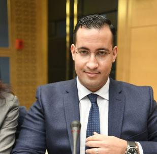 Alexandre Benalla lors d'une audition au Sénat sur ses passeports diplomatique
