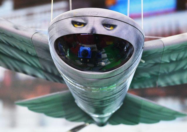 Un nouveau drone espion russe présenté lors du forum international technico-militaire Armée 2019, qui se tient dans le centre «Patriot» situé dans la région de Moscou, du 25 au 30 juin.