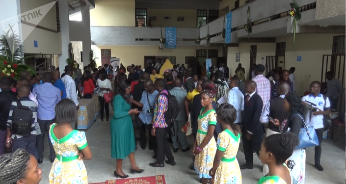 Hall école des postes et télécommunication de Yaoundé, site de l'événement.