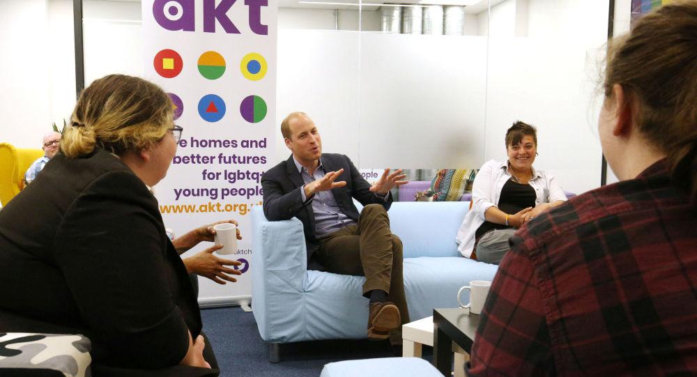 Le prince William en visite au centre Albert Kennedy Trust