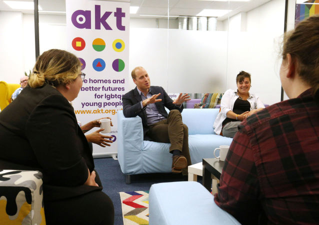 Le prince William en visite au centre Albert Kennedy Trust