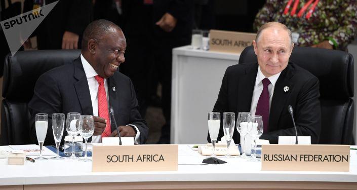 Vladimir Poutine au sommet du G20 à Osaka, au Japon