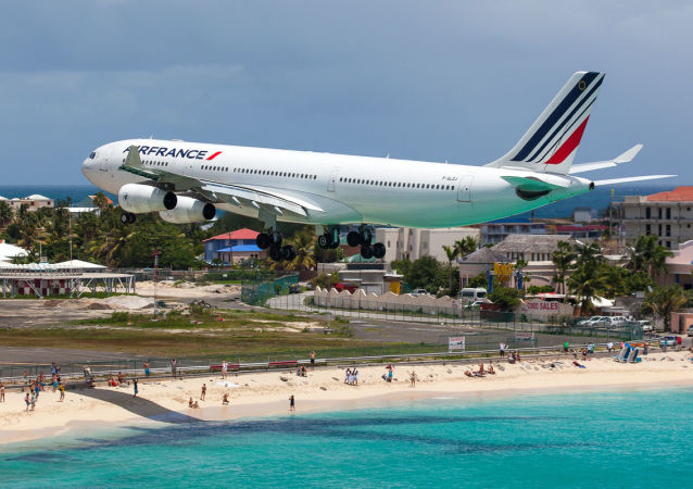 L'aéroport international Princess Juliana, sur l'île de Saint-Martin