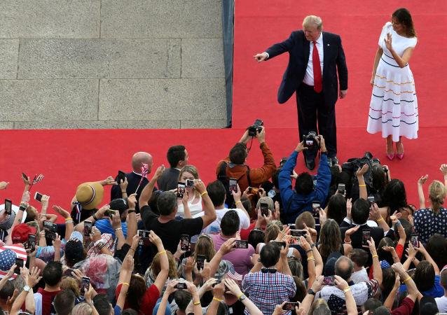 Donald et Melania Trump, le 4 juillet 2019