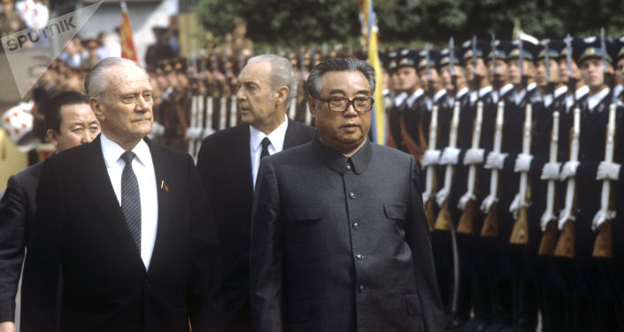 Kim Il-sung lors de sa visite en URSS