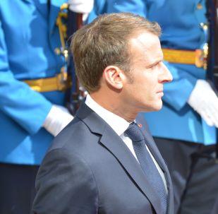 Emmanuel Macron en Serbie, le 15 juillet 2019