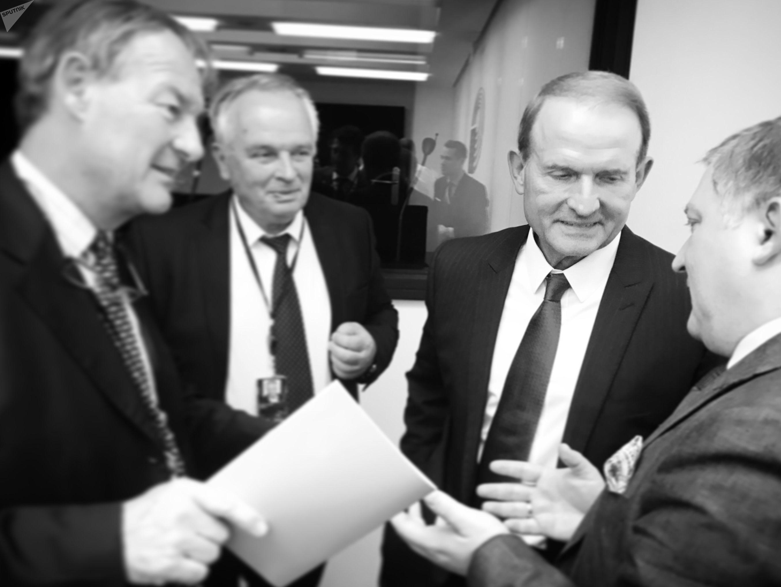 Viktor Medvedchouk, le chef de file du parti d'opposition Le Choix de l'Ukraine