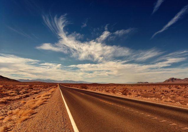 Route dans le Nevada