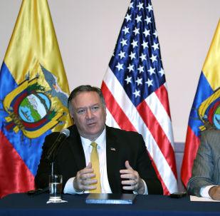 Mike Pompeo et le Président équatorien Lénin Moreno