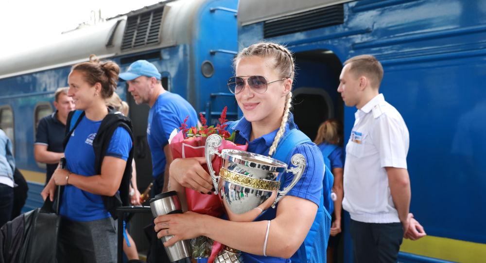 L'équipe de Russie de rugby à 7, championnes de l'Europe 2019