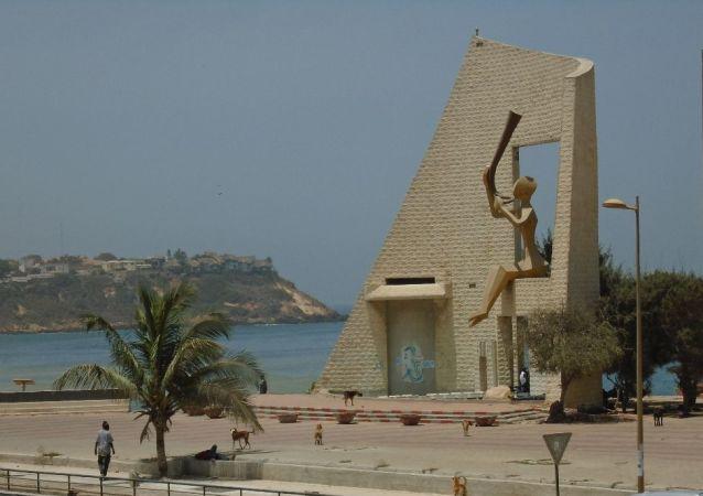 Monument de la Porte du Troisième Millénaire, à Dakar