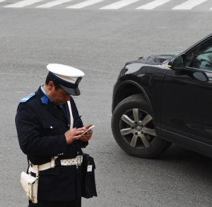 Policier marocain à Casablanca