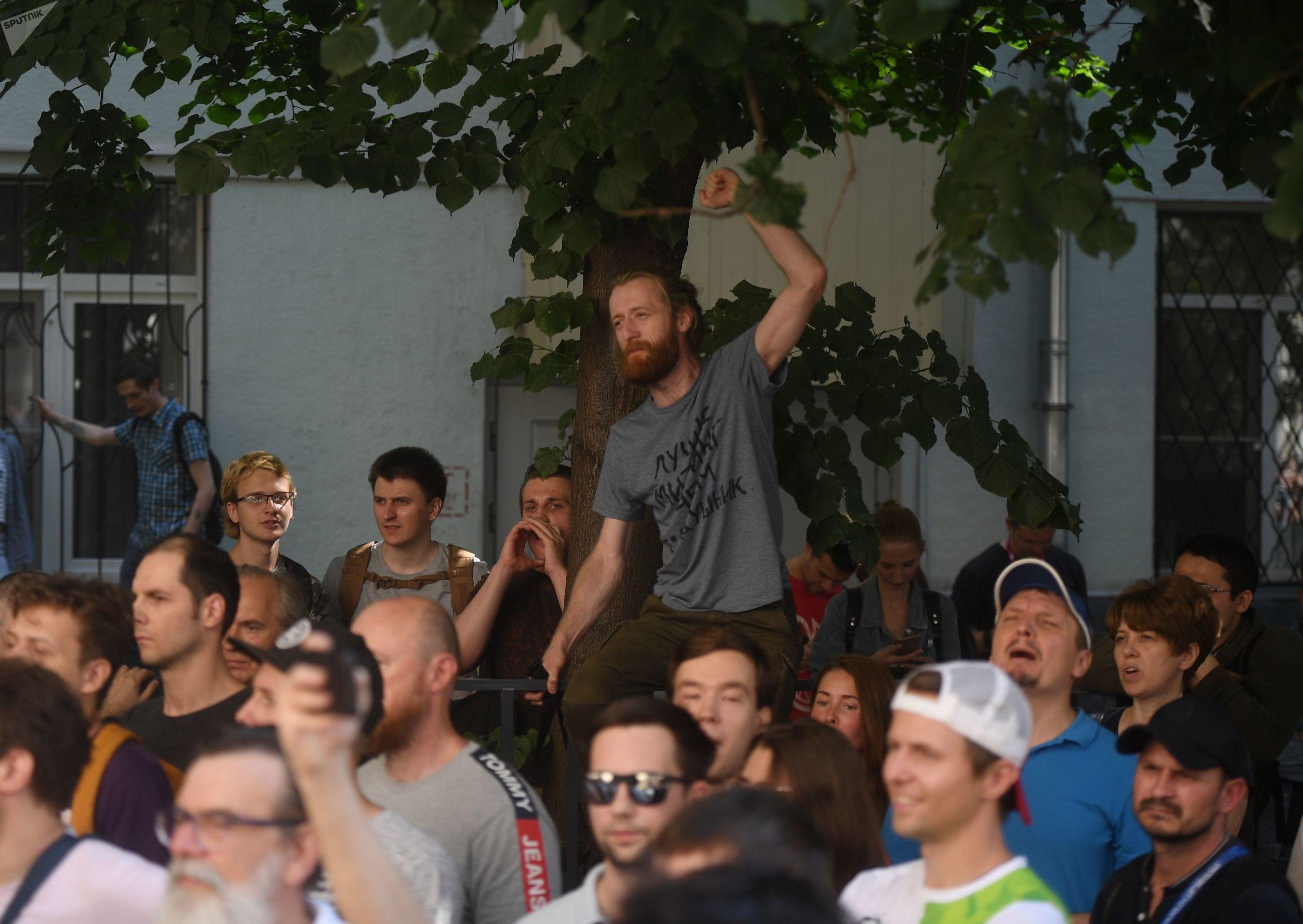 Un rassemblement non autorisé à Moscou le 27 juillet 2019