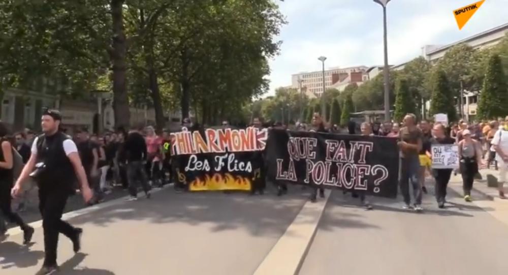 La marche dédiée à la mémoire de Steve Maia Caniço, Nantes
