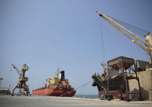 Le port d'Hodeida, Yémen