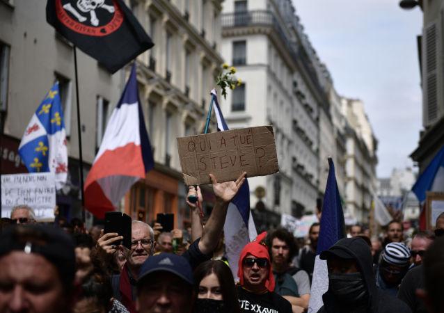 manifestation contre les violences policières après la mort de Steve Maia Caniço, Paris (image d'illustration)
