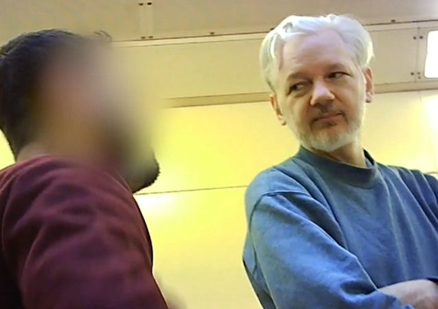 Julian Assange dans la prison de Belmarsh à Londres (archive photo)