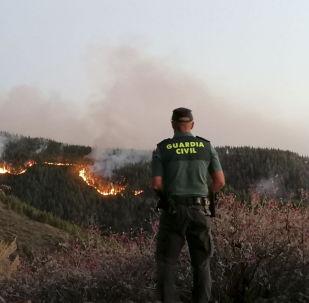 Les incendies sur les îles Canaries