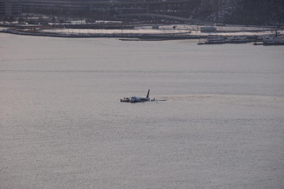 L'amerrissage d'un avion dans le fleuve Hudson