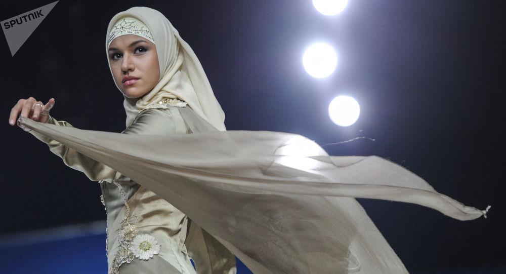 Défilé de mode à Moscou, image d'illustration