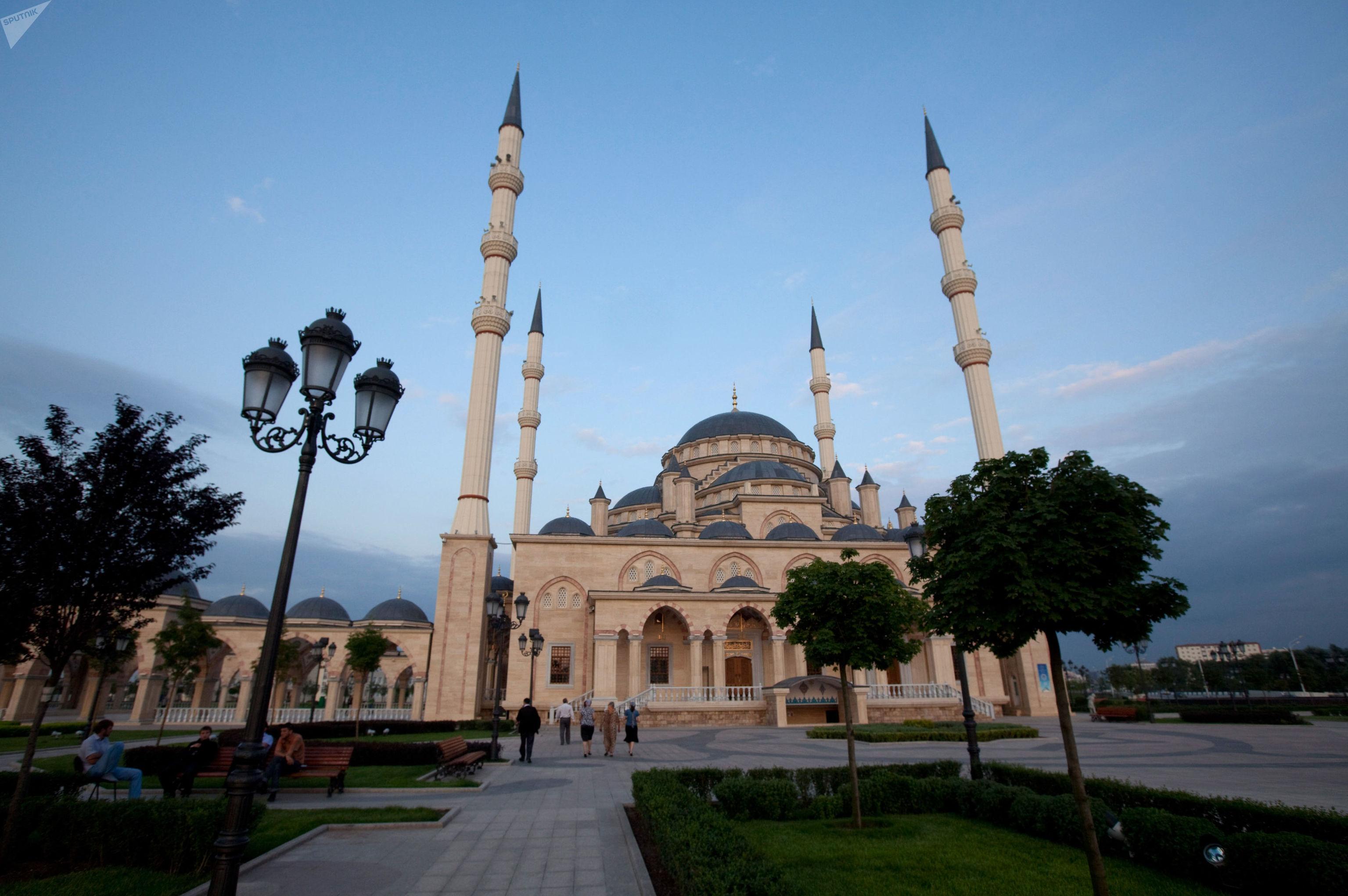 La mosquée Akhmad Kadyrov, surnommée le «cœur de la Tchétchénie»