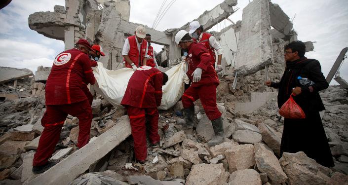 Une prison détruite dans une frappe de la coalition arabe au Yémen