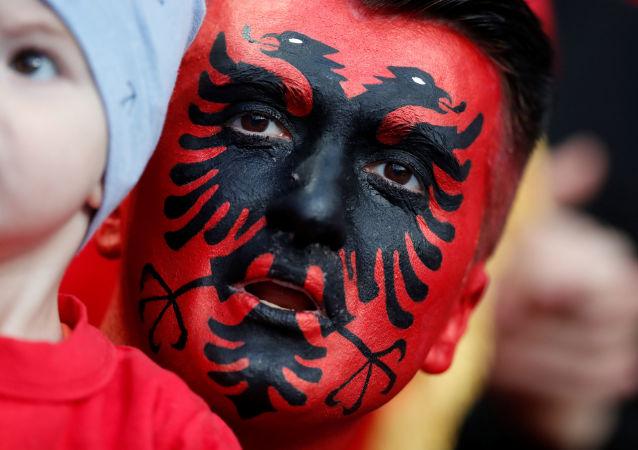 Un supporteur albanais