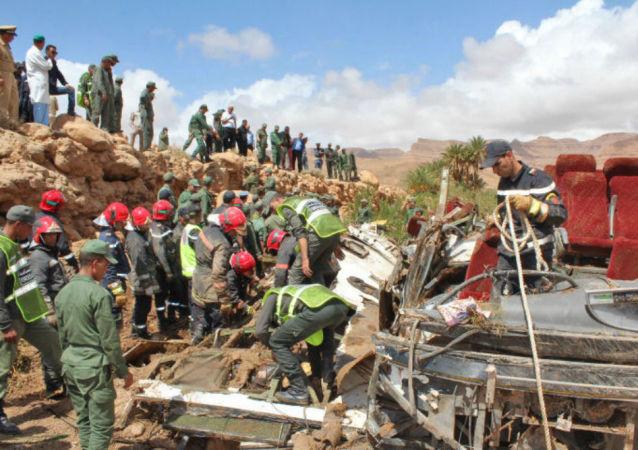 Plusieurs morts dans l'accident d'un bus emporté par une crue au Maroc