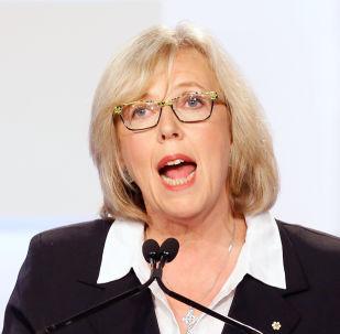 La chef du Parti vert du Canada, Elizabeth May