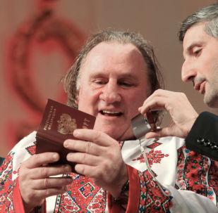 Depardieu avec le passeport russe