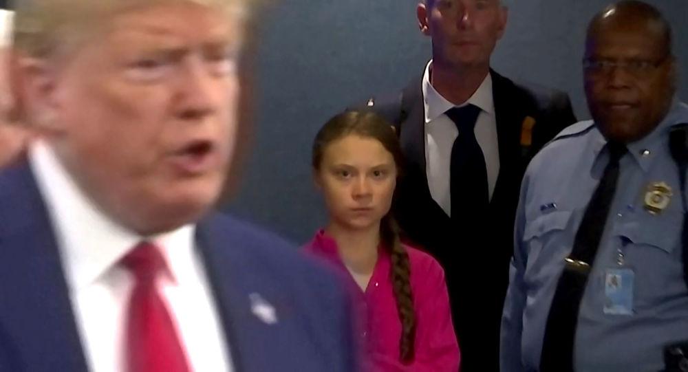 Le regard éloquent de Greta Thunberg face à Donald Trump à l'Onu - vidéo