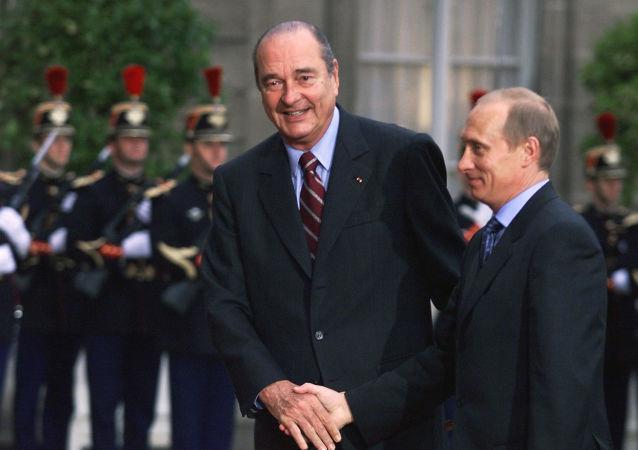 Jacques Chirac et Vladimir Poutine