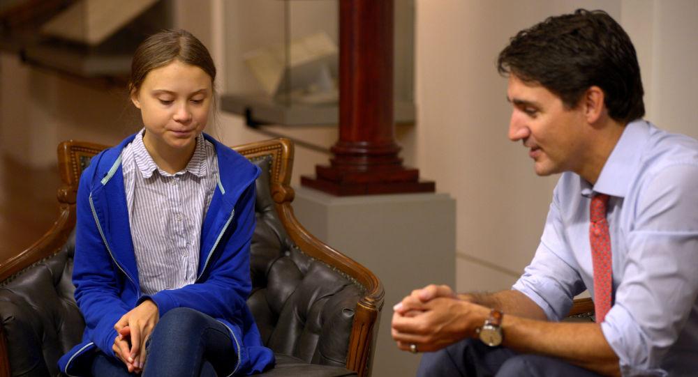 Justin Trudeau rencontre Greta Thunberg
