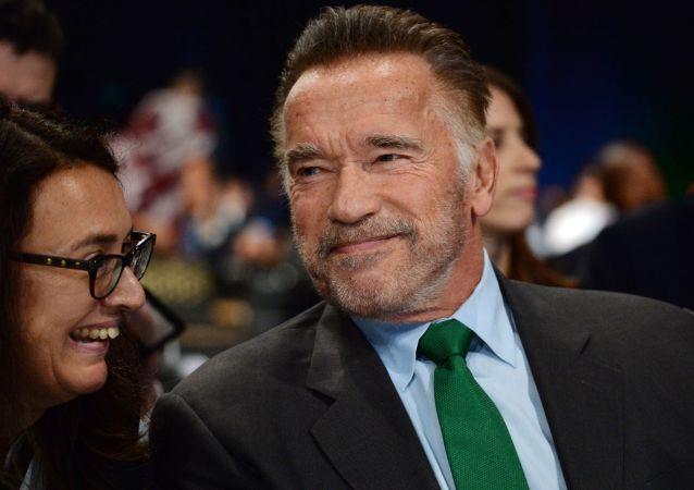 Arnold Schwarzenegger lors de la 24e session de l'Onu sur le climat