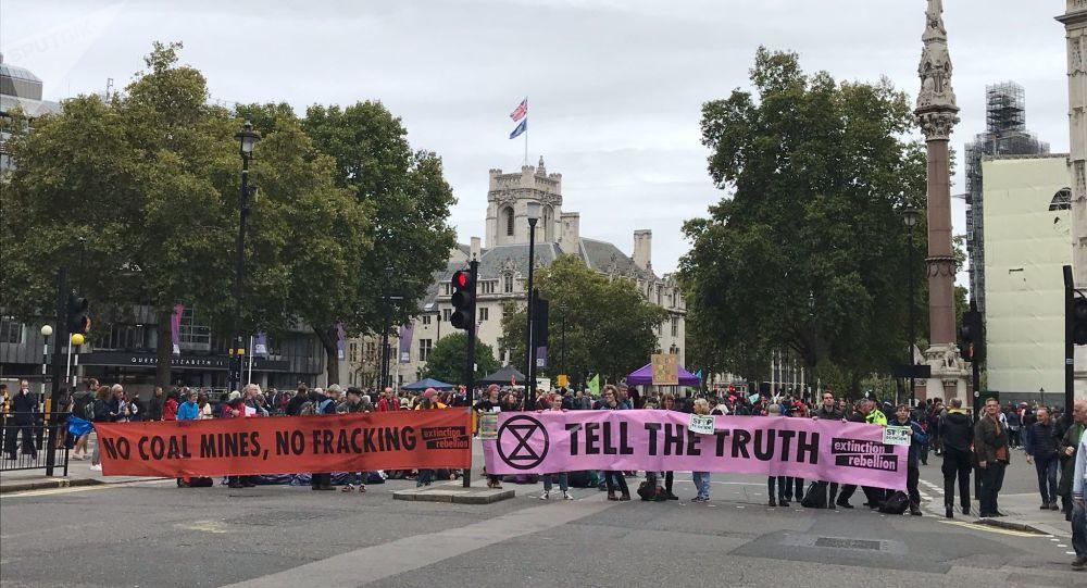 Actions d'Extinction Rebellion à Londres