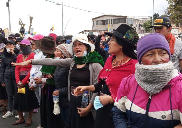 Protestations à Quito