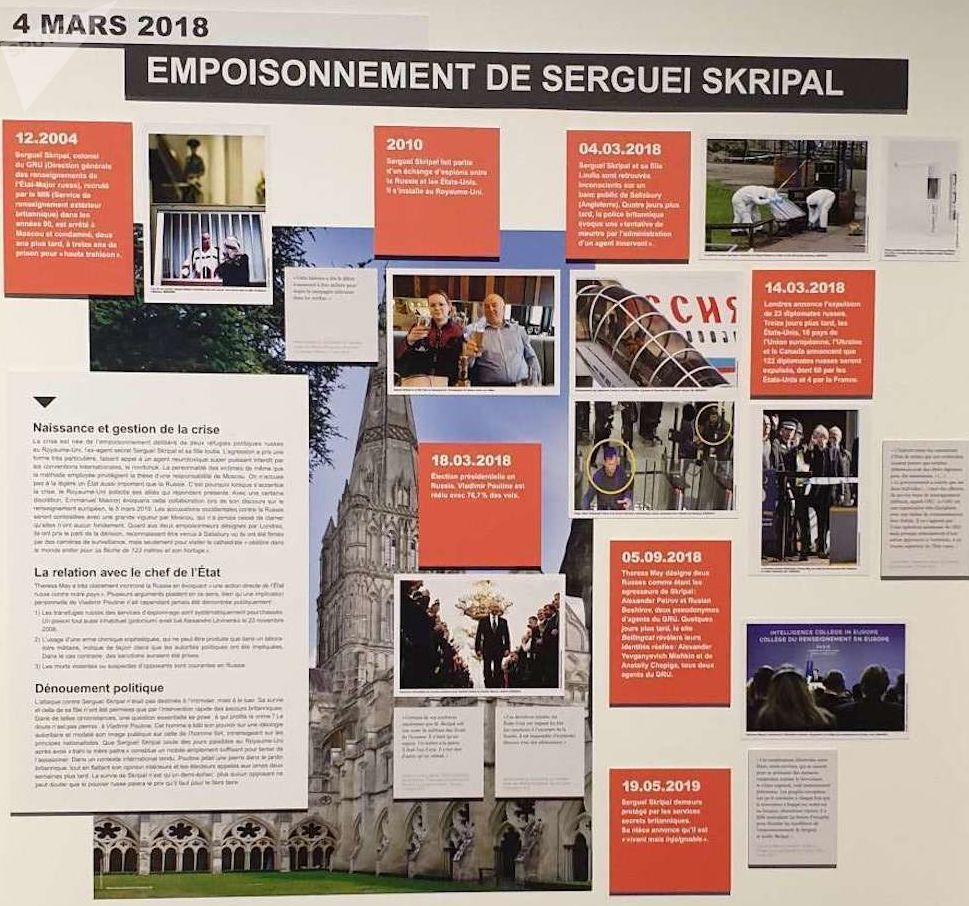 Panneau affaire Skripal - Exposition Espions