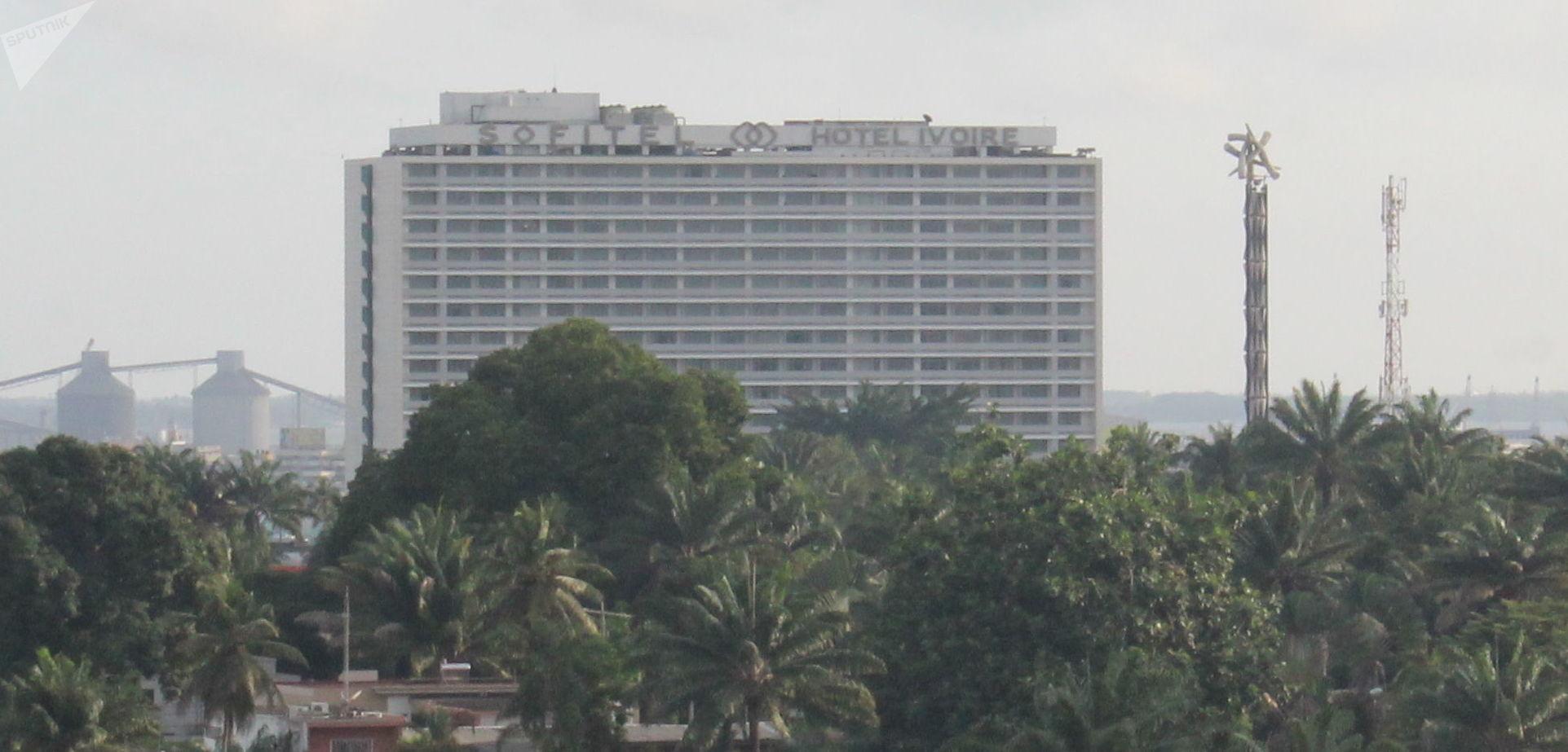 Le gratte-ciel du Sofitel Hôtel Ivoire à Abidjan